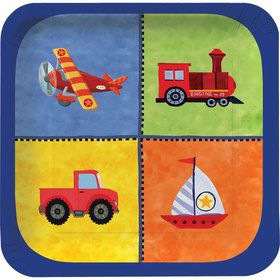 "On The Go 7"" Lunch Plates, Square (8 Pack)"
