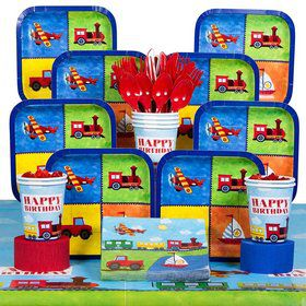 On The Go Birthday Party Deluxe Tableware Kit Serves 8