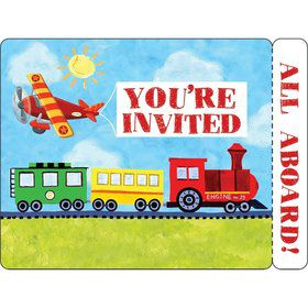 On The Go Invitation, Postcard (8 Pack)
