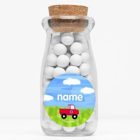 "On The Go Personalized 4"" Glass Milk Jars (Set of 12)"