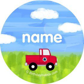 On the Go Personalized Mini Stickers (Sheet of 20)
