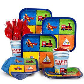 On The Go Standard Birthday Party Tableware Kit Serves 8