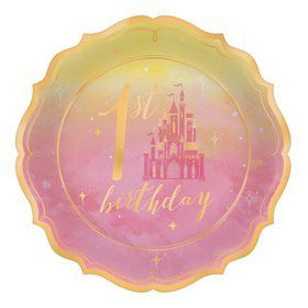 Once Upon A Time 1st Birthday Dessert Plates (8)
