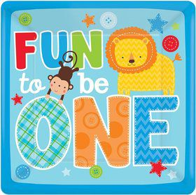 "One Wild Boy 1st Birthday 10"" Luncheon Plates (8 Pack)"