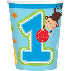 One Wild Boy 1st Birthday 9oz Cups (8 Pack)