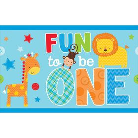 One Wild Boy 1st Birthday Plastic Table Cover (Each)