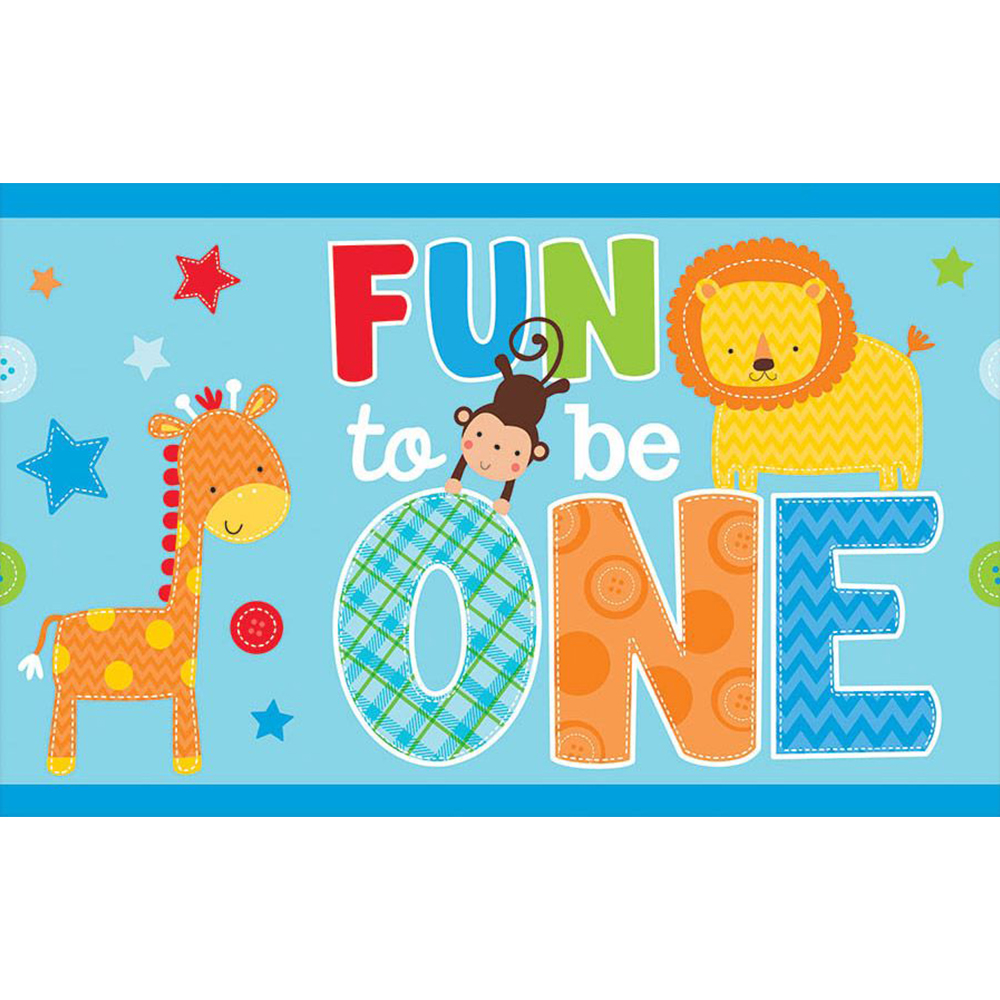 One Wild Boy 1St Birthday Plastic Table Cover (Each) BB571423