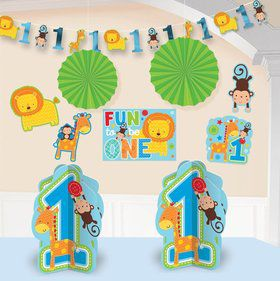One Wild Boy 1st Birthday Room Decorating Kit (Each)