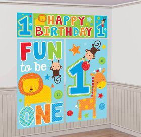One Wild Boy 1st Birthday Wall Decorating Kit (Each)