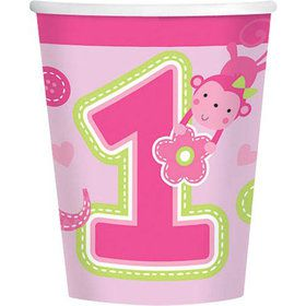 One Wild Girl 1st Birthday 9oz Cups (8 Pack)