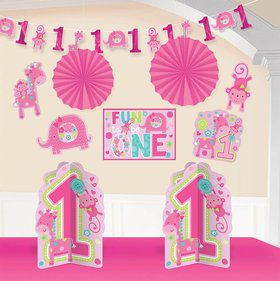 One Wild Girl 1st Birthday Room Decorating Kit (Each)