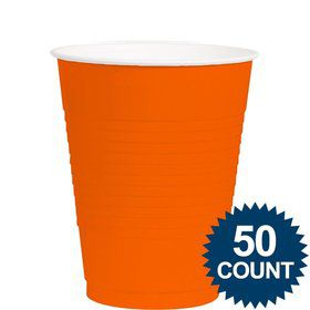 Orange 12Oz. Plastic Cup (50 Pack)