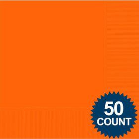 Orange 2-Ply Luncheon Napkins, 50 ct.