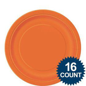 "Orange 9"" Luncheon Plates (16 Pack)"