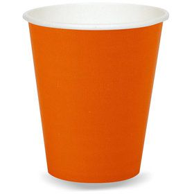 Orange 9oz. Paper Cups (24 Pack)