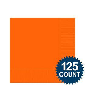 Orange Beverage Napkins (125 Pack)