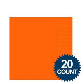 Orange Beverage Napkins (20 Pack)