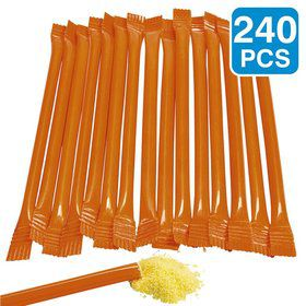 "Orange Candy Filled 6"" Straws (240 Pack)"