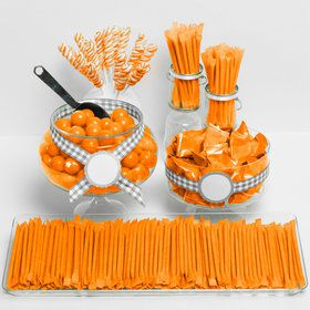 Orange Candy Packaged Assortment - Candy Buffet Kit t
