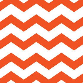 Orange Chevron & Dots Luncheon Napkins (16 Count)