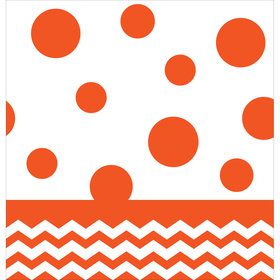 Orange Chevron & Dots Table Cover