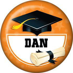Orange Grad Personalized Magnet (Each)