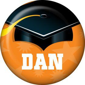 Orange Grad Personalized Mini Magnet (Each)