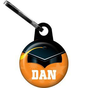 Orange Grad Personalized Zipper Pull (Each)