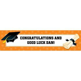 Orange Graduation Personalized Banner (Each)