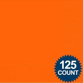 Orange Luncheon Napkins (125 Pack)