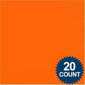 Orange Luncheon Napkins (20 Pack)