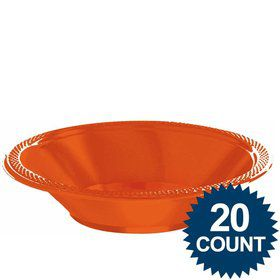 Orange Plastic 12oz. Bowls (20 Pack)