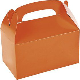 Orange Treat Favor Boxes (6 Pack)