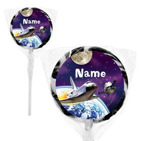 "Outer Space Personalized 2"" Lollipops (20 Pack)"