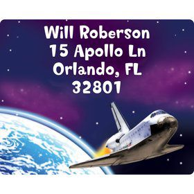 Outer Space Personalized Address Labels (Sheet of 15)