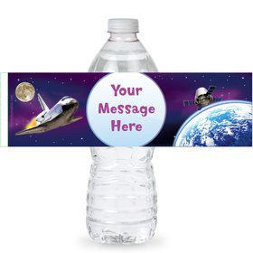 Outer Space Personalized Bottle Labels (Sheet of 4)