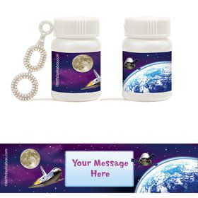 Outer Space Personalized Bubbles (18 Pack)