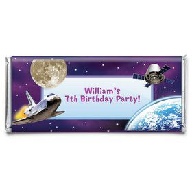 Outer Space Personalized Candy Bar Wrapper (Each)
