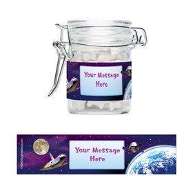 Outer Space Personalized Glass Apothecary Jars (10 Count)