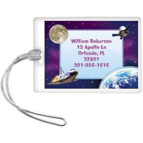 Outer Space Personalized Luggage Tag (each)