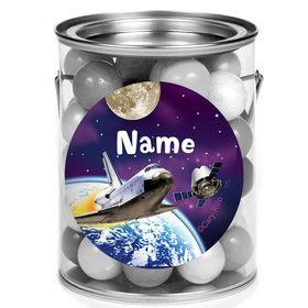 Outer Space Personalized Mini Paint Cans (12 Count)