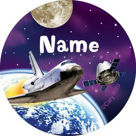 Outer Space Personalized Mini Stickers (Sheet of 20)