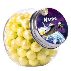 Outer Space Personalized Plain Glass Jars (10 Count)