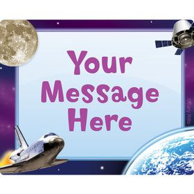 Outer Space Personalized Rectangular Stickers (Sheet of 15)