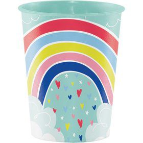 Over the Rainbow 16oz Plastic Favor Cup (1)