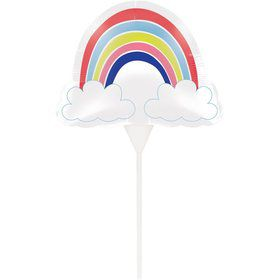 Over the Rainbow Balloon Cake Topper (1)