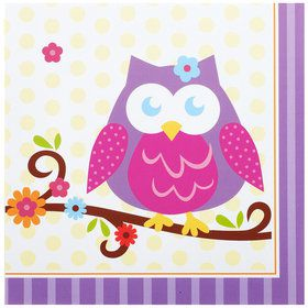 Owl Blossom Lunch Napkins (16 Count)