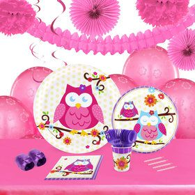 Owl Blossum 16 Guest Tableware Decoration Kit