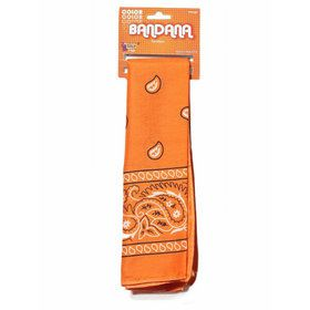 Paisley Orange Cotton Bandana