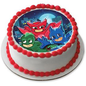 "Pajama Heroes 7.5"" Round Edible Cake Topper (Each)"